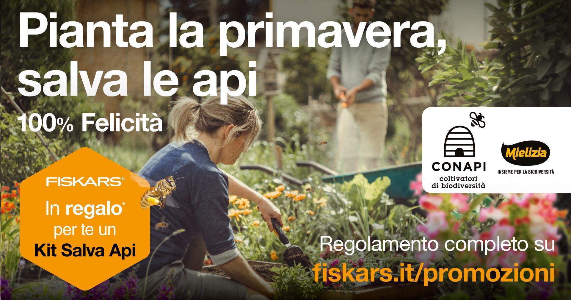 Fiskars e Conapi Mielizia insieme per la biodiversità con  il Kit Salva Api