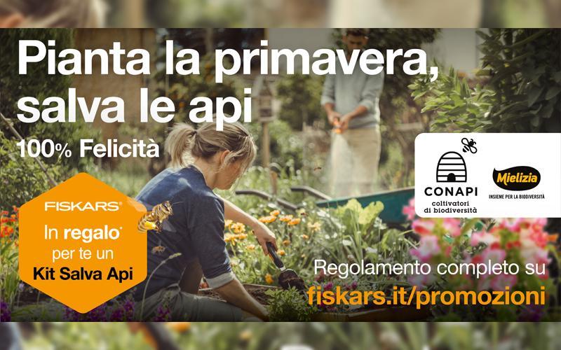 """Conapi e Fiskars insieme per la biodiversità con il """"Kit Salva Api"""""""